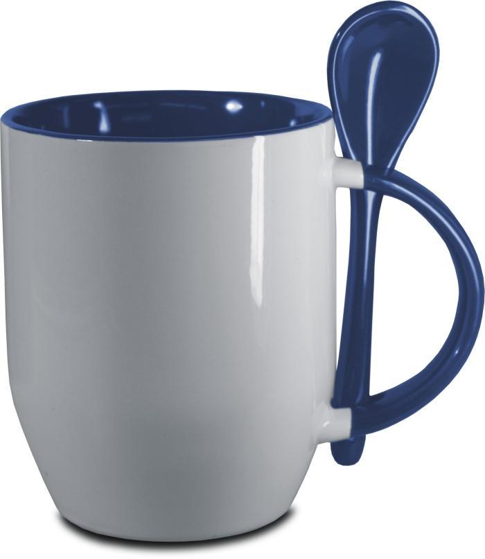 Hrnček s lyžičkou-modrý