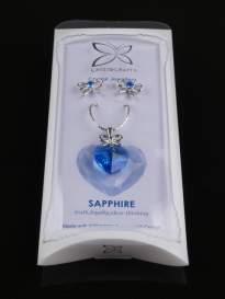 Prívesok+ náušnice SAPHIRE